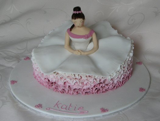 ballet dancer cake in tutu