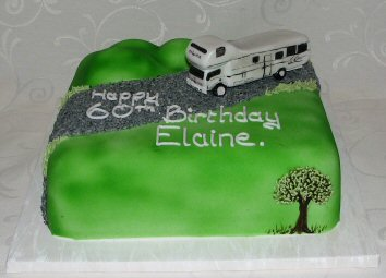 outdoor cake campervan - motor home cake