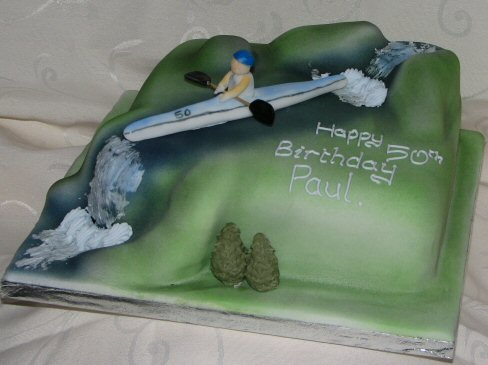 50th Birthday cake canoe
