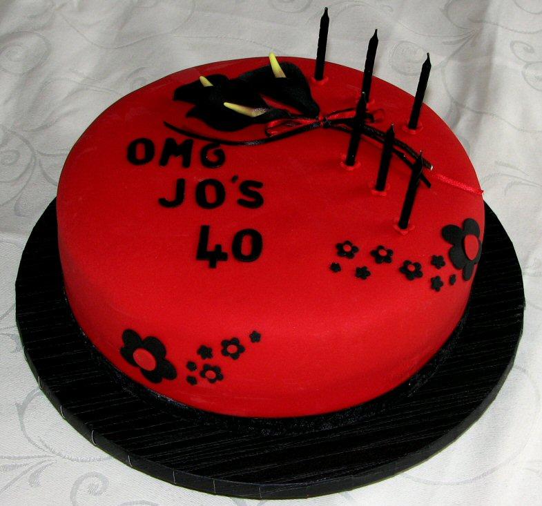 Wellington Cakes Omg 40th Birthday Cake