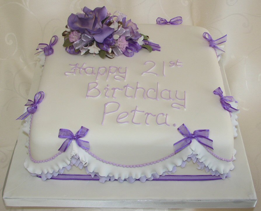 Wellington Cakes Frills And Flowers 21st Birthday Cake