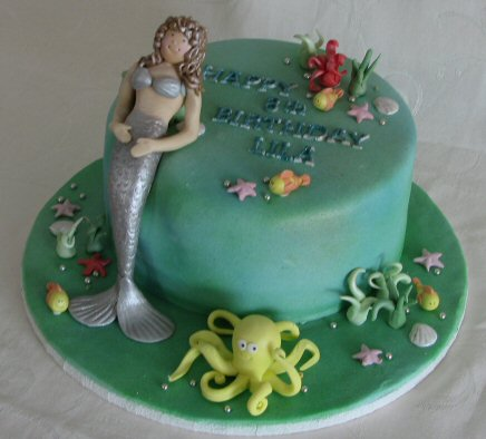 under water mermaid cake